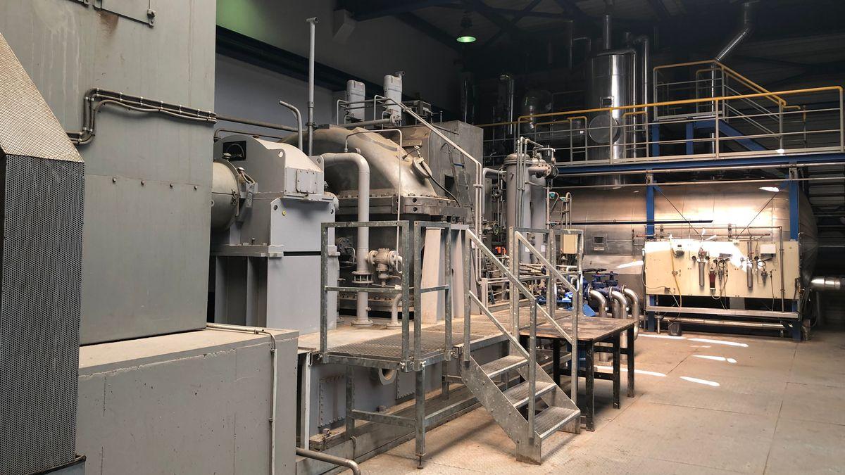 Heizkraftwerk in Altenstadt.
