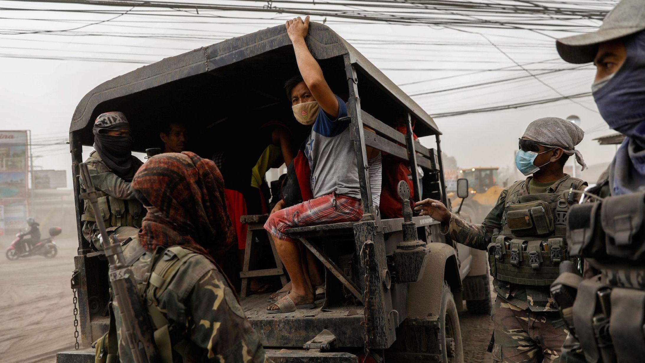 Viele Einwohner wurden evakuiert