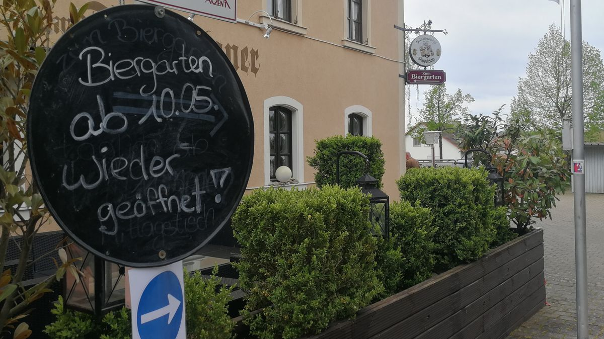 Das Hotel Frankziskaner in Dettelbach öffnet seinen Biergarten wieder.