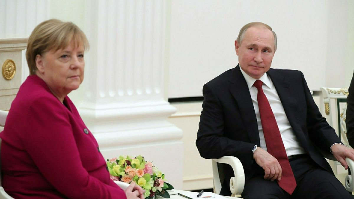 Angela Merkel war im Januar zu Gast im Kreml bei Wladimir Putin.