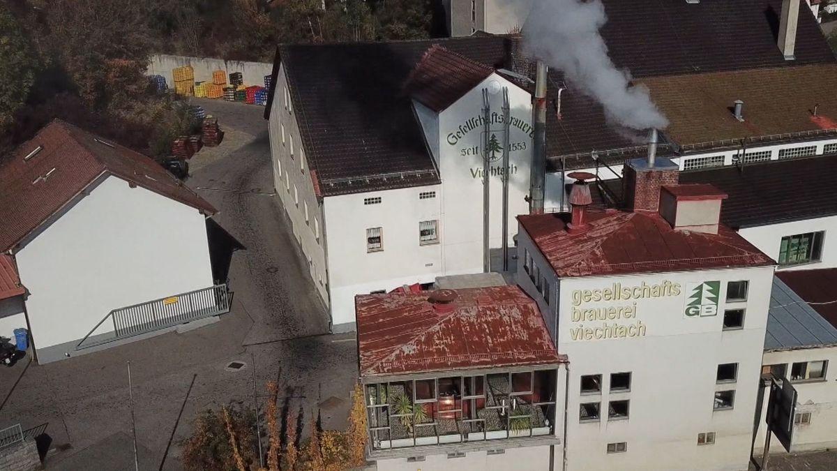 Die Traditionsbrauerei in Viechtach von oben