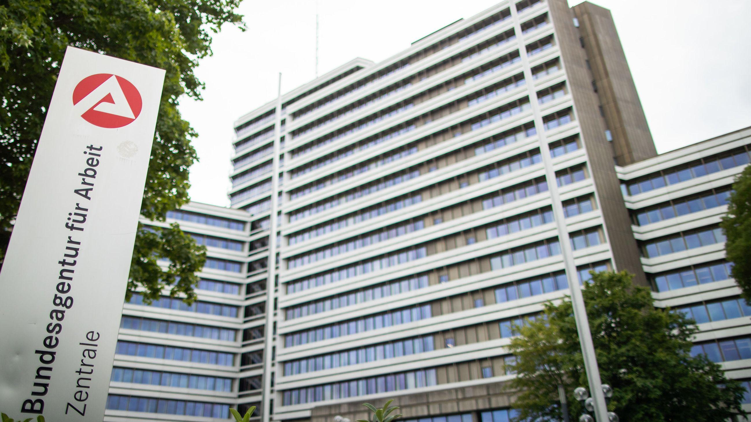 Die Zentrale der Bundesagentur für Arbeit in Nürnberg