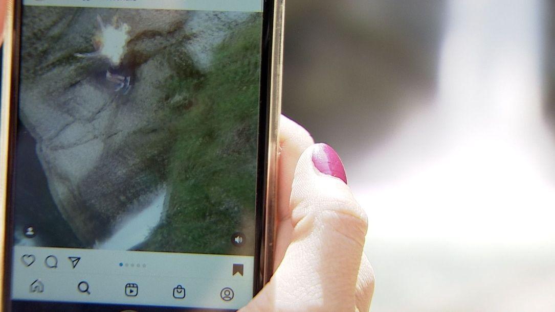 Instagram-Video zeigt einen Vorfall an den Buchenegger Wasserfällen