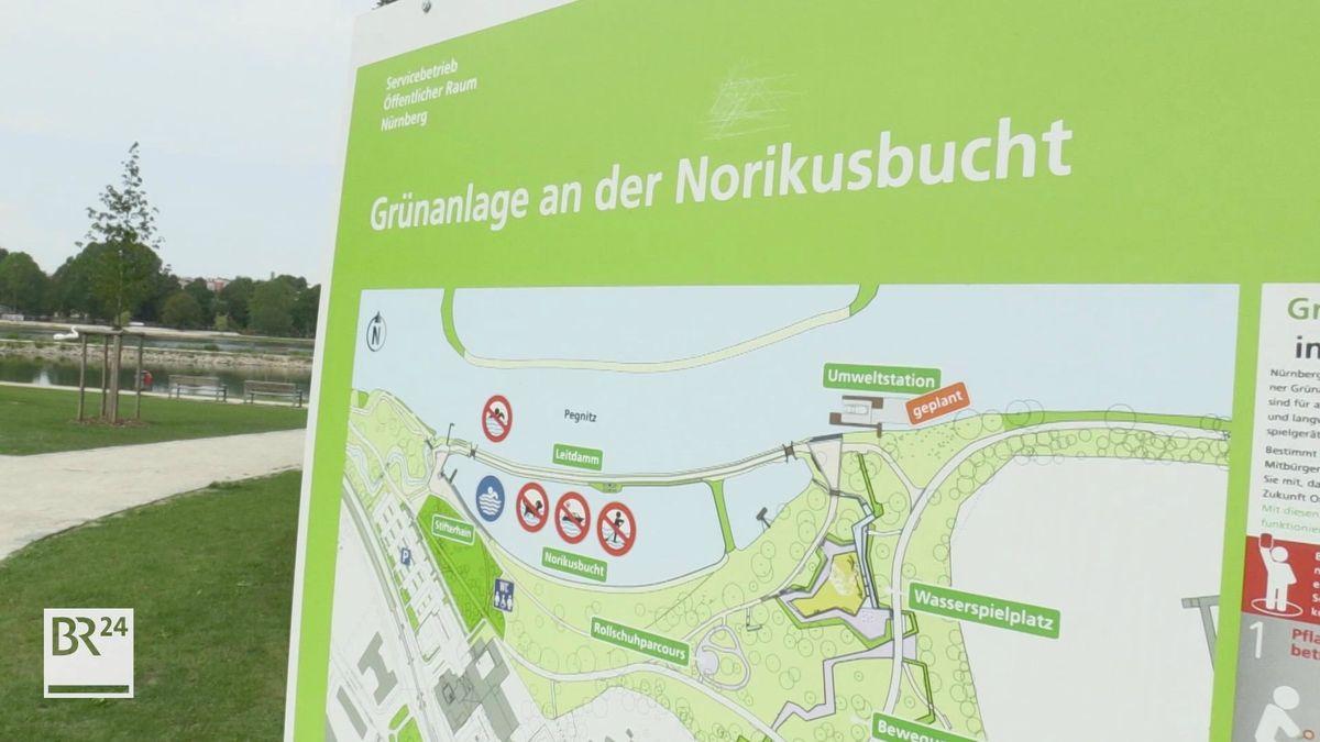 Die Norikusbucht in Nürnberg