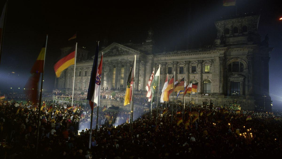 Berlin, Wiedervereinigung 3.10.1990 Berlin