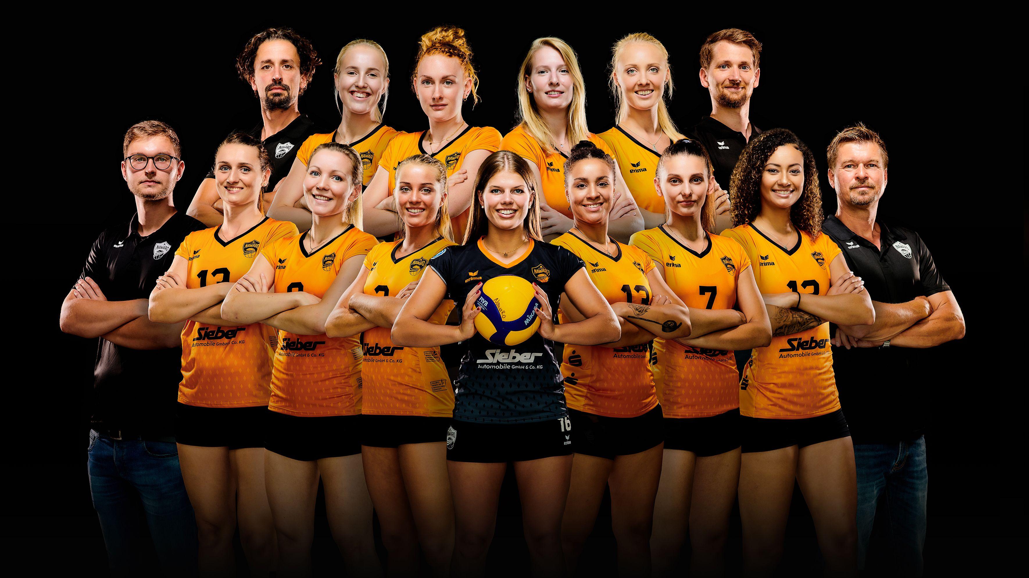 Die Volleyballerinnen von NawaRo Straubing.