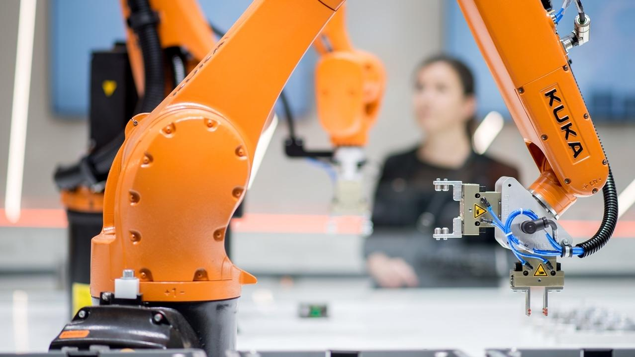 Roboter des Augsburger Roboterherstellers Kuka