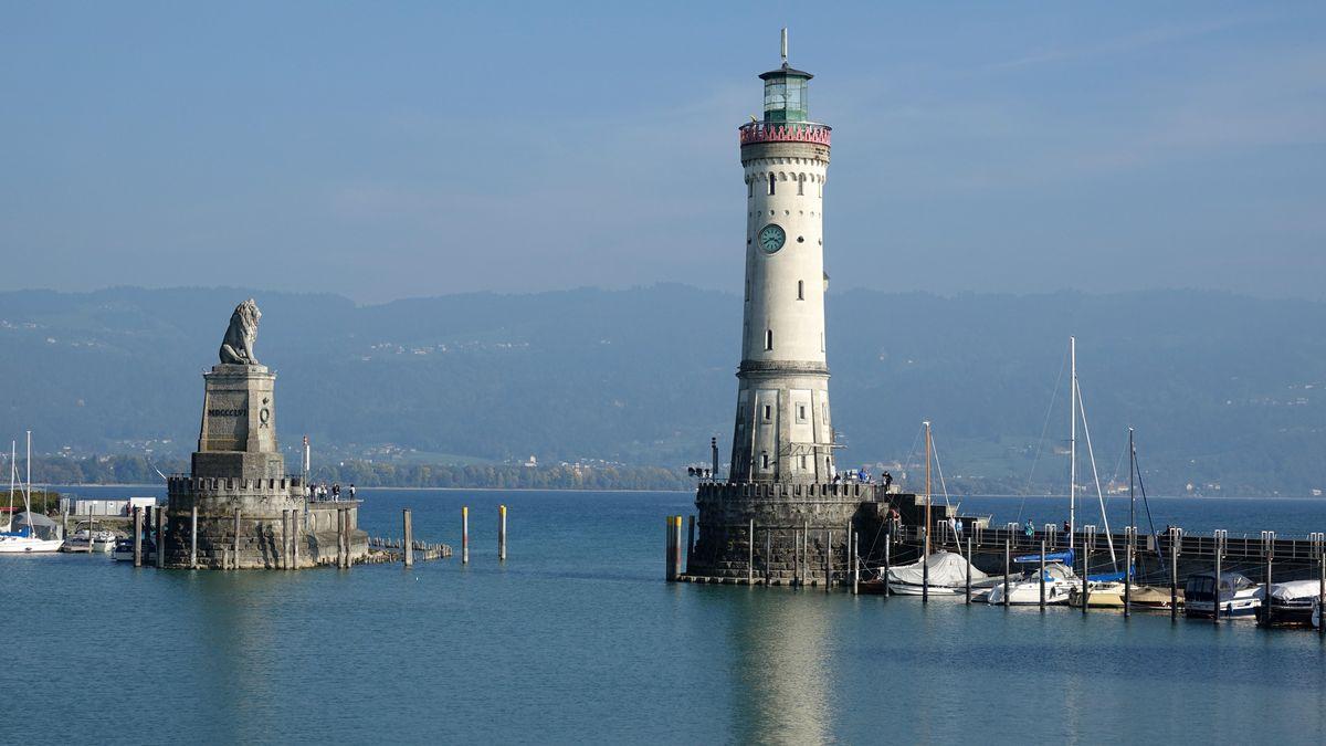 Der Hafen von Lindau am Bodensee