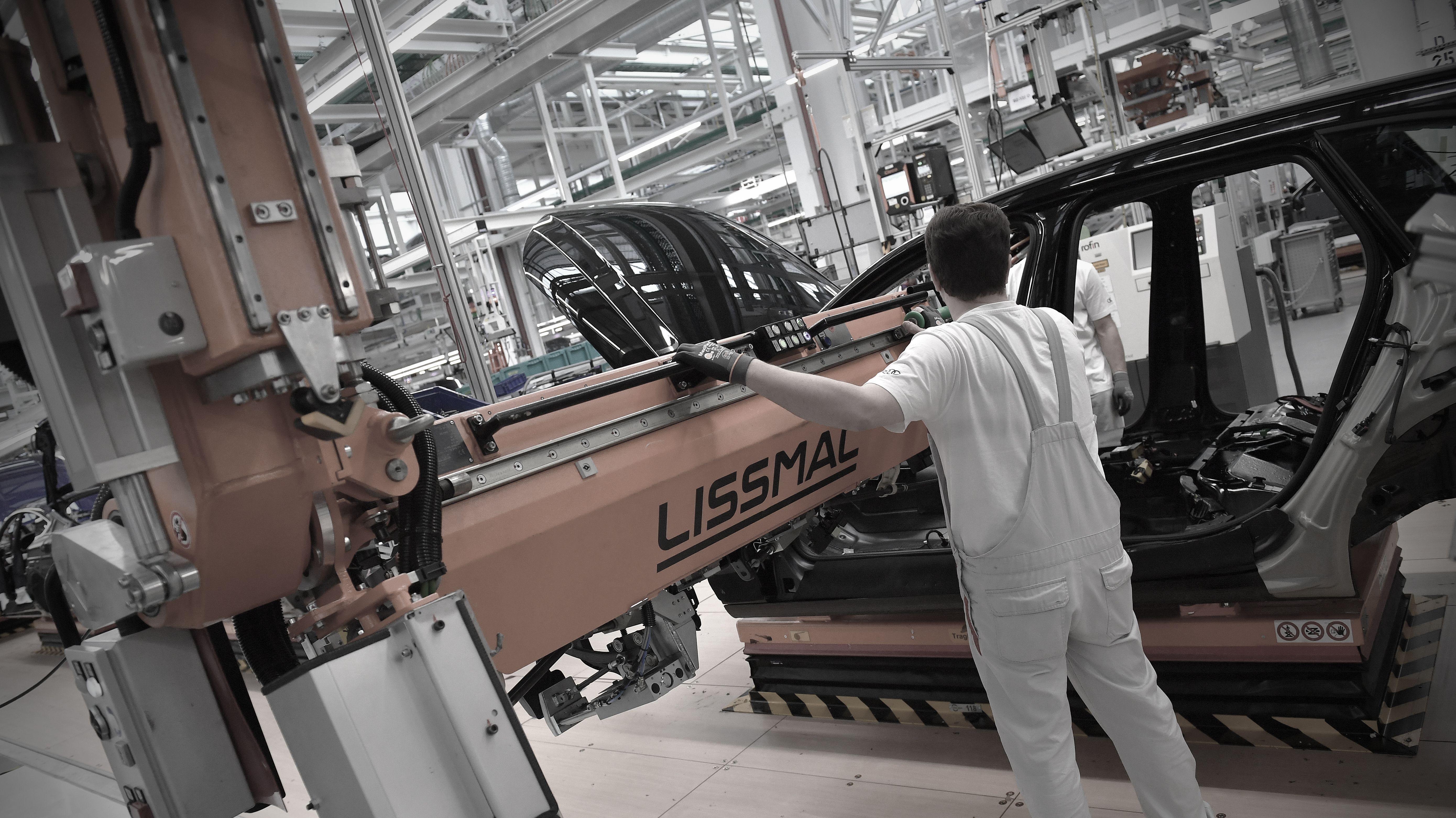 Montage in einem Audi-Werk