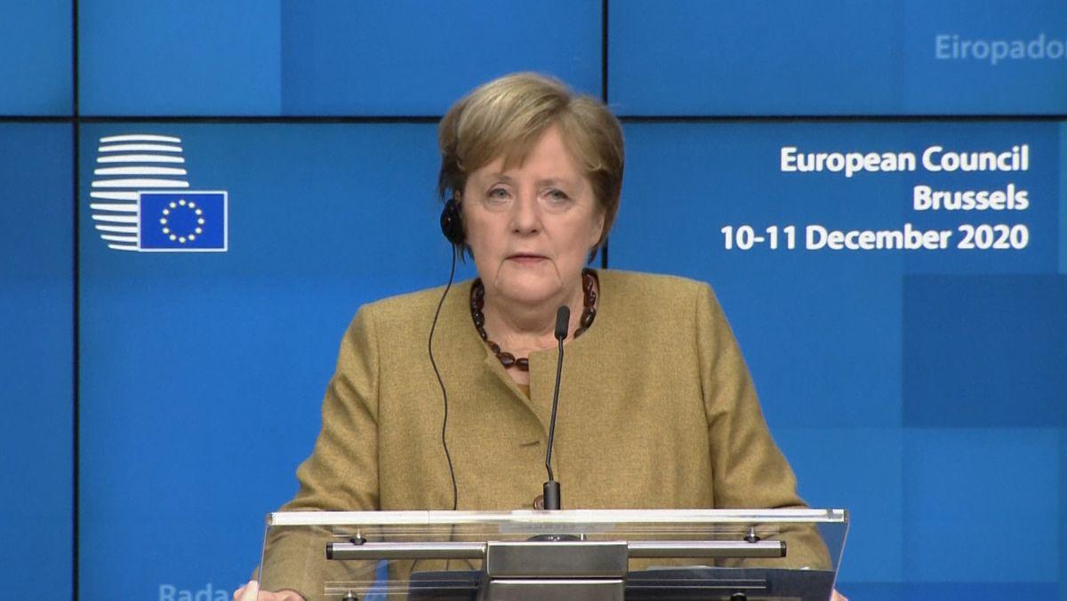 Bundeskanzlerin Merkel zeigte sich nach dem geglückten Kompromiss im Klimastreit der EU erleichtert.