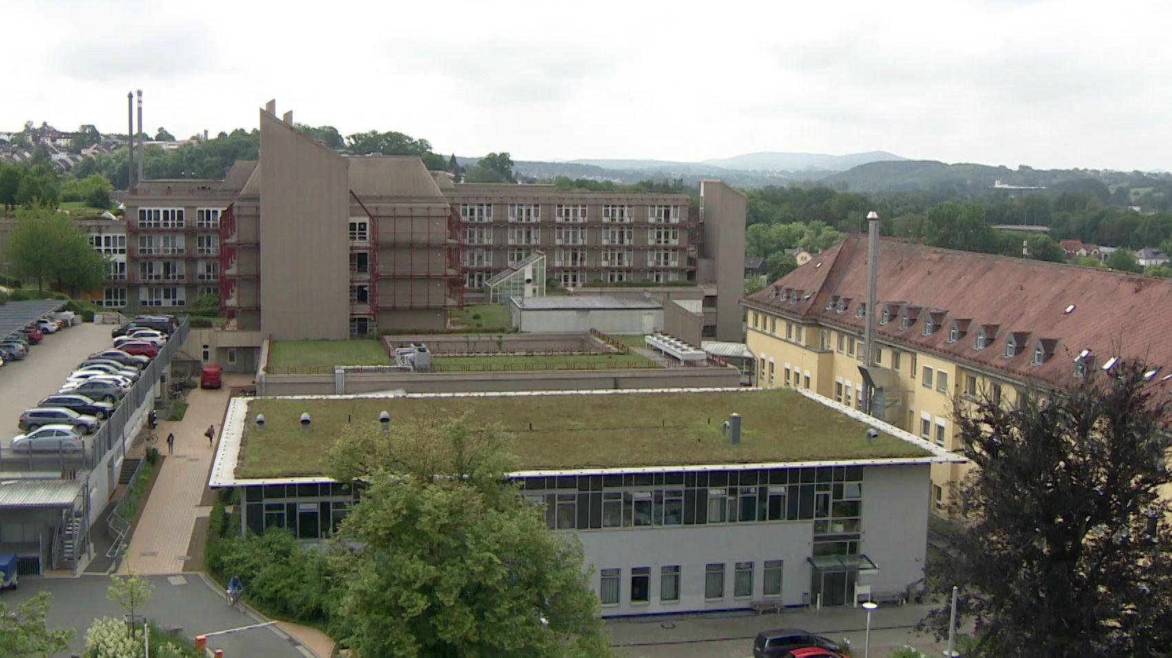 Der Klinikverbund Regiomed in Oberfranken - Standort Coburg von oben
