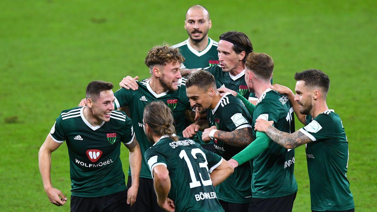 Schweinfurt jubelt über den Führungstreffer