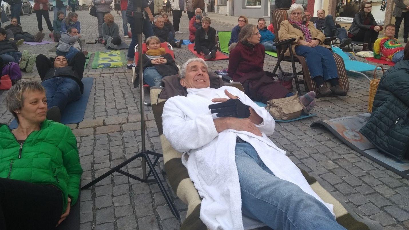 Hersbrucker demonstrieren für Erhalt von Krankenhäusern im ländlichen Raum.