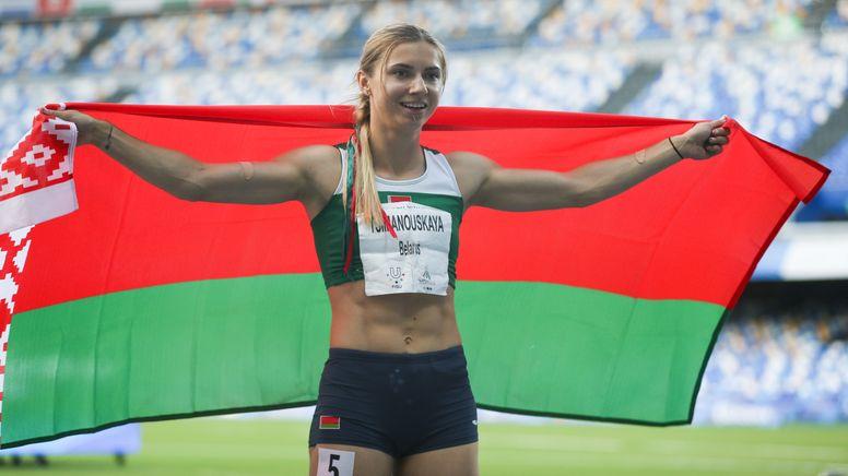 Die belarussische Sprinterin Kristina Timanowskaja, eine Aufnahme aus dem Jahr 2019   Bild:picture alliance / Photoshot   -