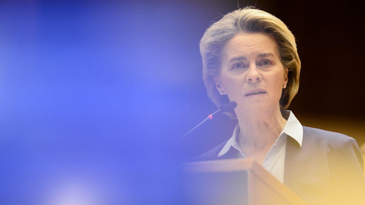 Ursula von der Leyen vor dem Europäischen Parlament in Brüssel