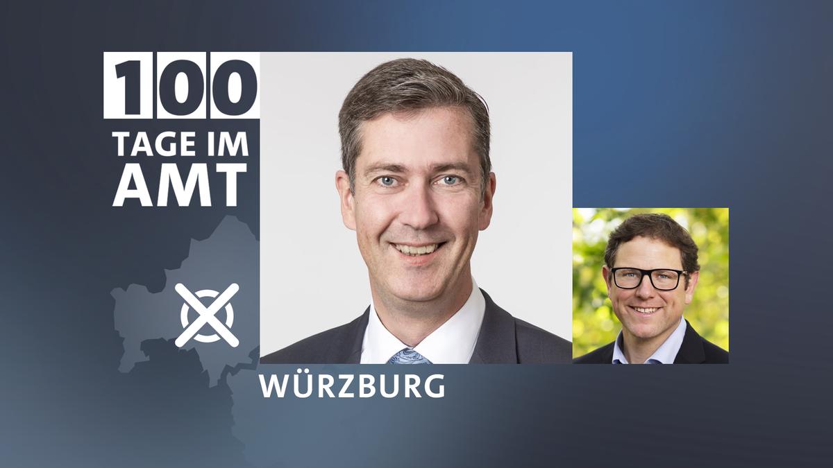 Würzburgs CDU-Oberbürgermeister Christian Schuchardt und Klimabürgermeister Martin Heilig von den Grünen