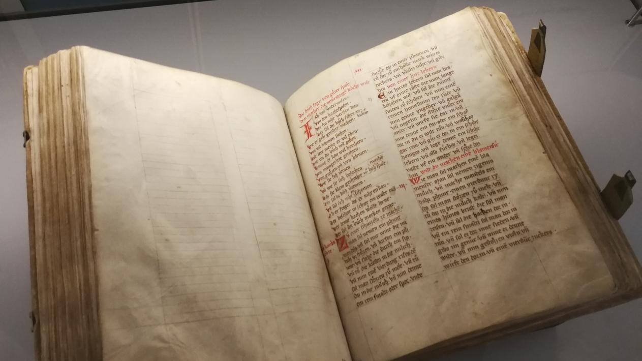 Das älteste Kochbuch der Welt - ausgestellt auf der Cadolzburg