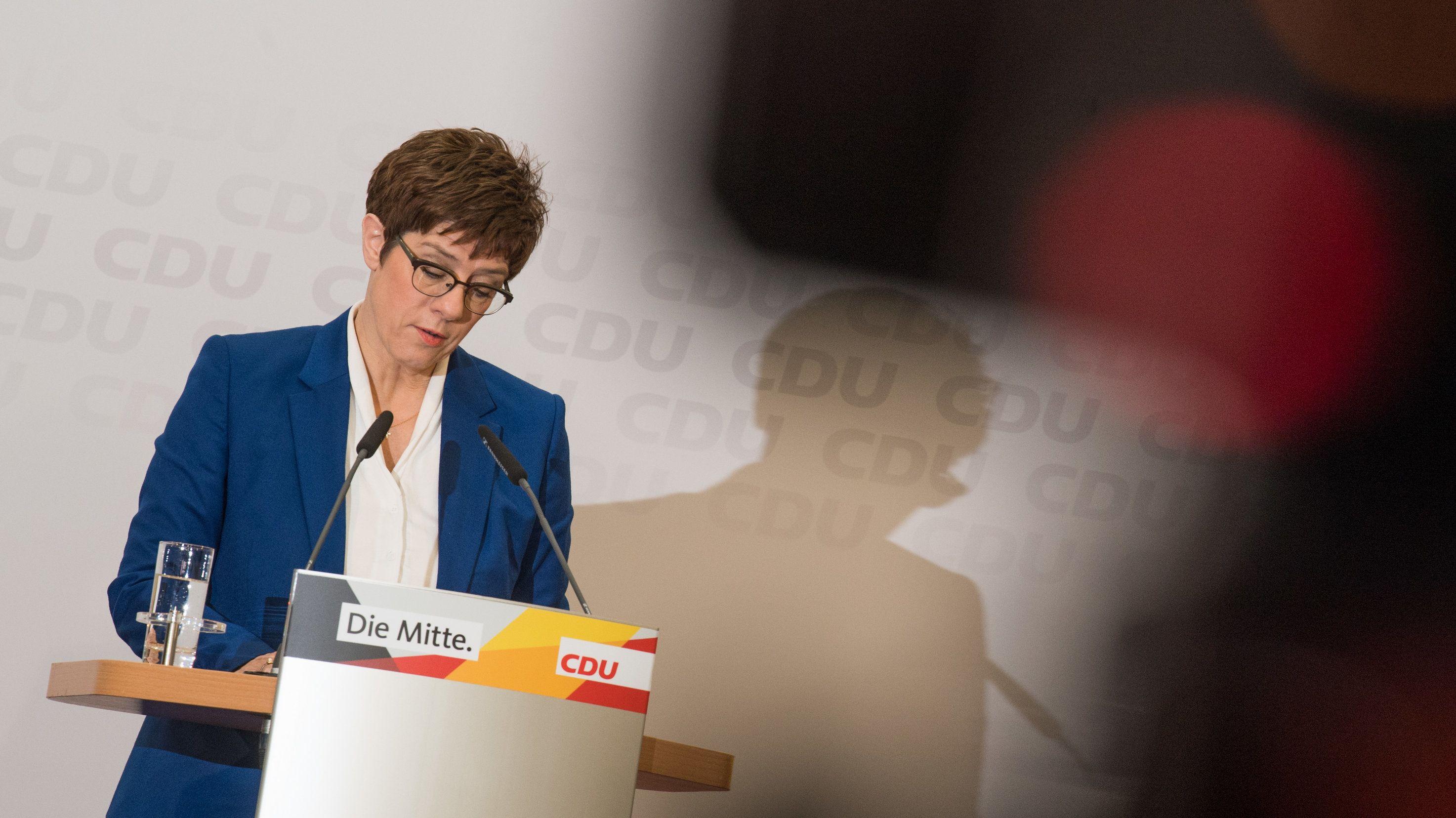 Annegret Kramp-Karrenbauer, Bundesvorsitzende der CDU und Verteidigungsministerin
