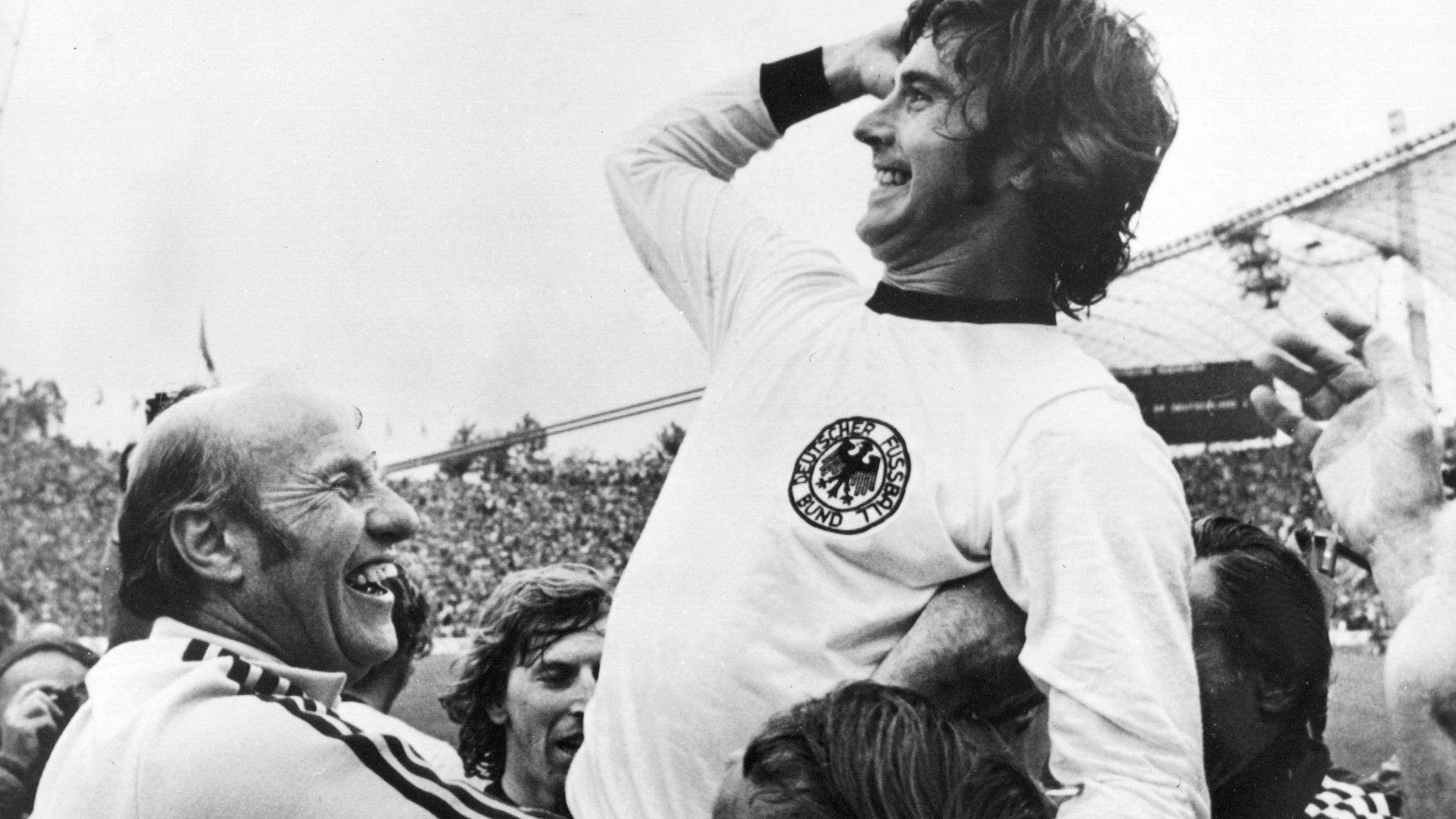Gerd Müller nach dem WM-Sieg 1974
