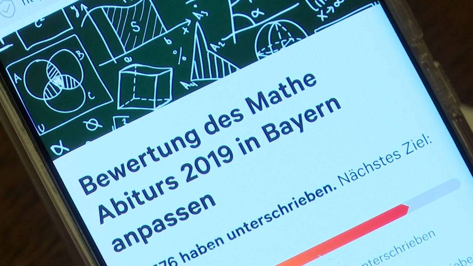 Petition zum Mathe-Abitur in Bayern