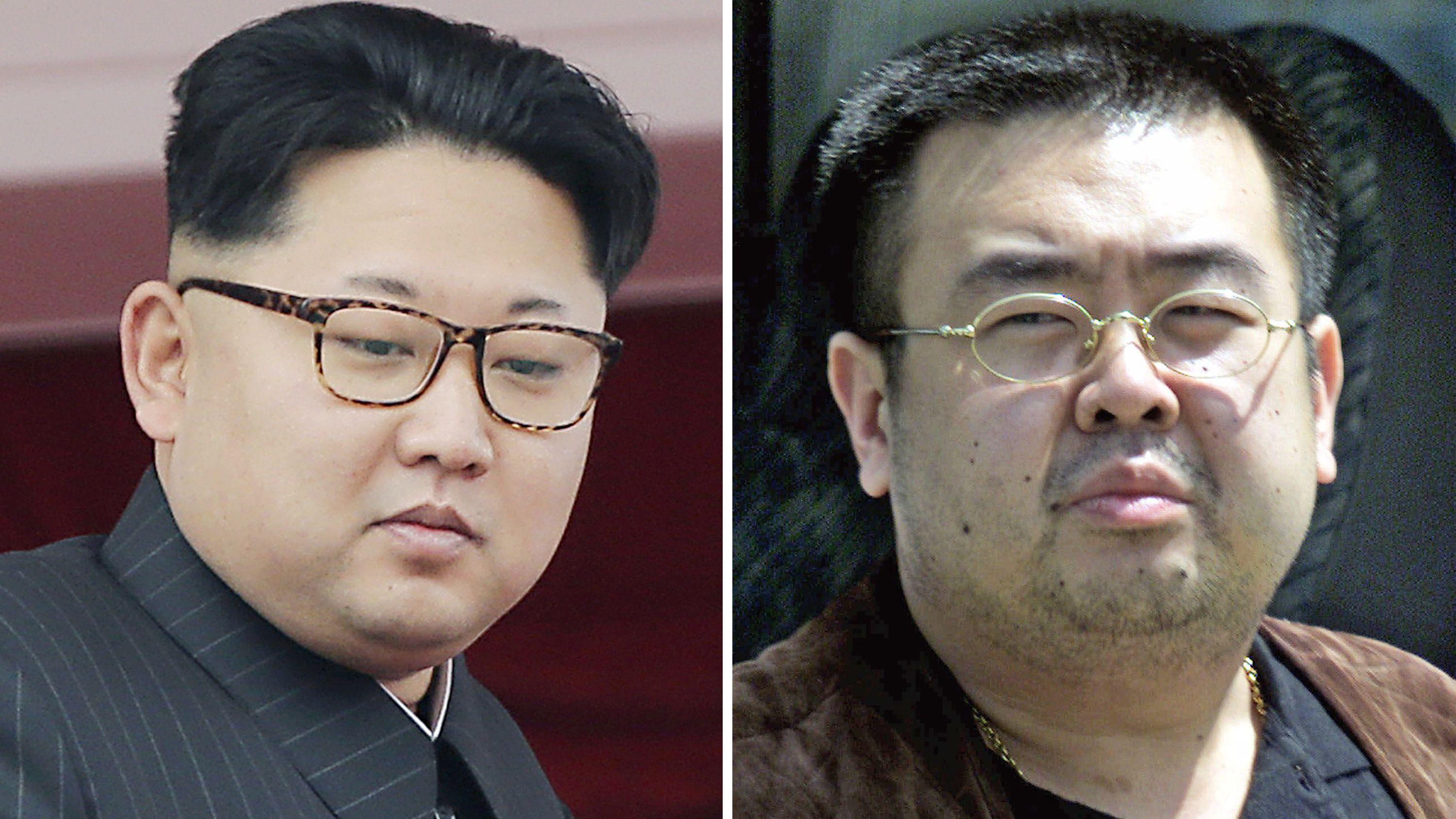 Kim Jong-Un und sein Halbbruder Kim Jong Nam