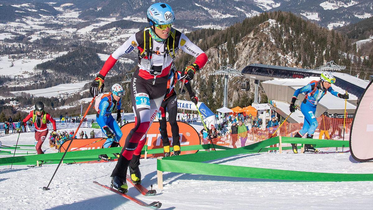 Skibergsteiger bei einer Weltmeisterschaft
