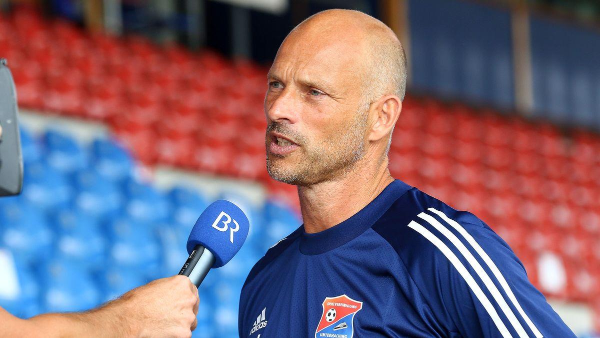 Arie van Lent, neuer Trainer der SpVgg Unterhaching, im BR-Interview