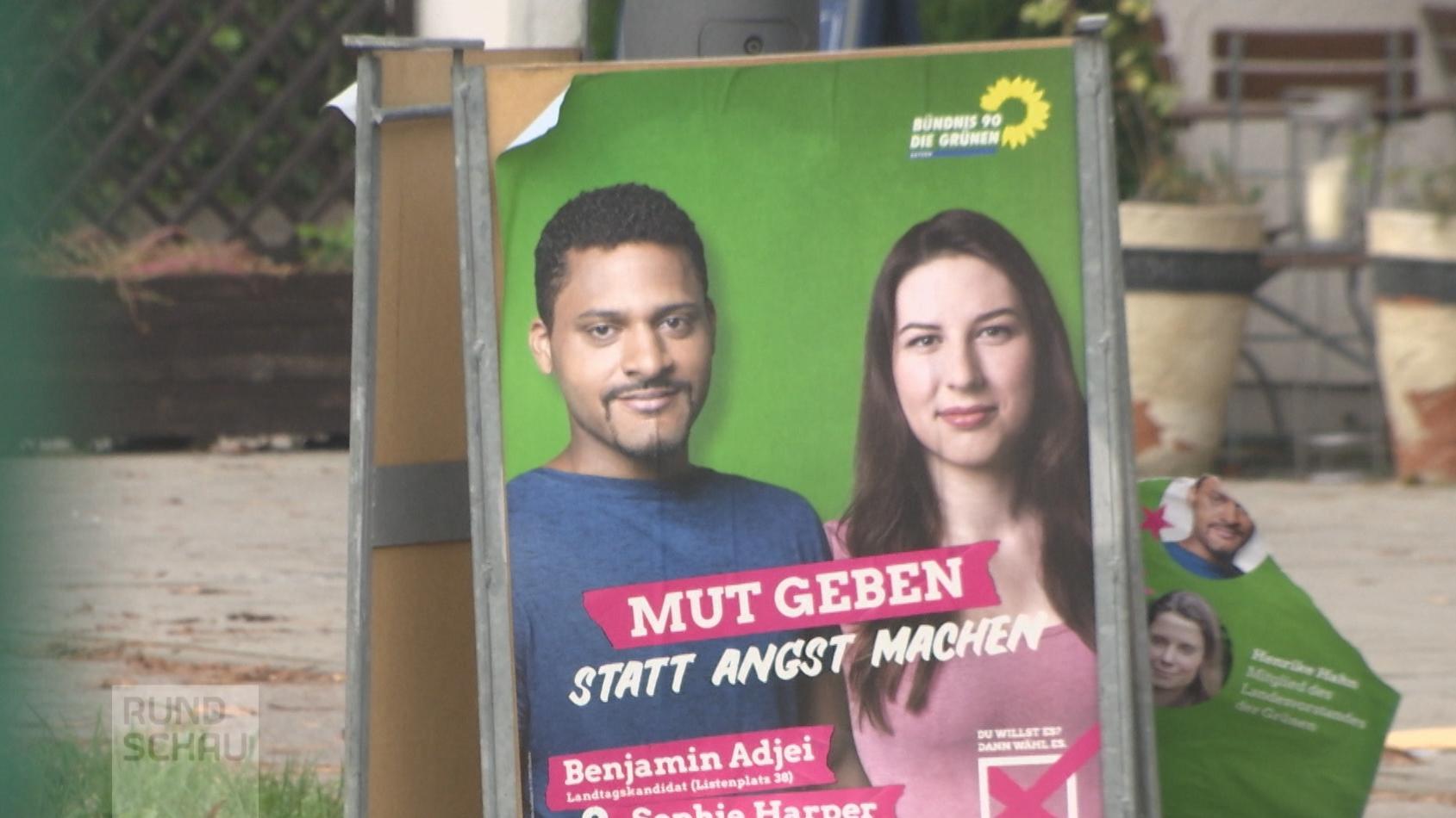 Wahlplakat mit Benjamin Adjei