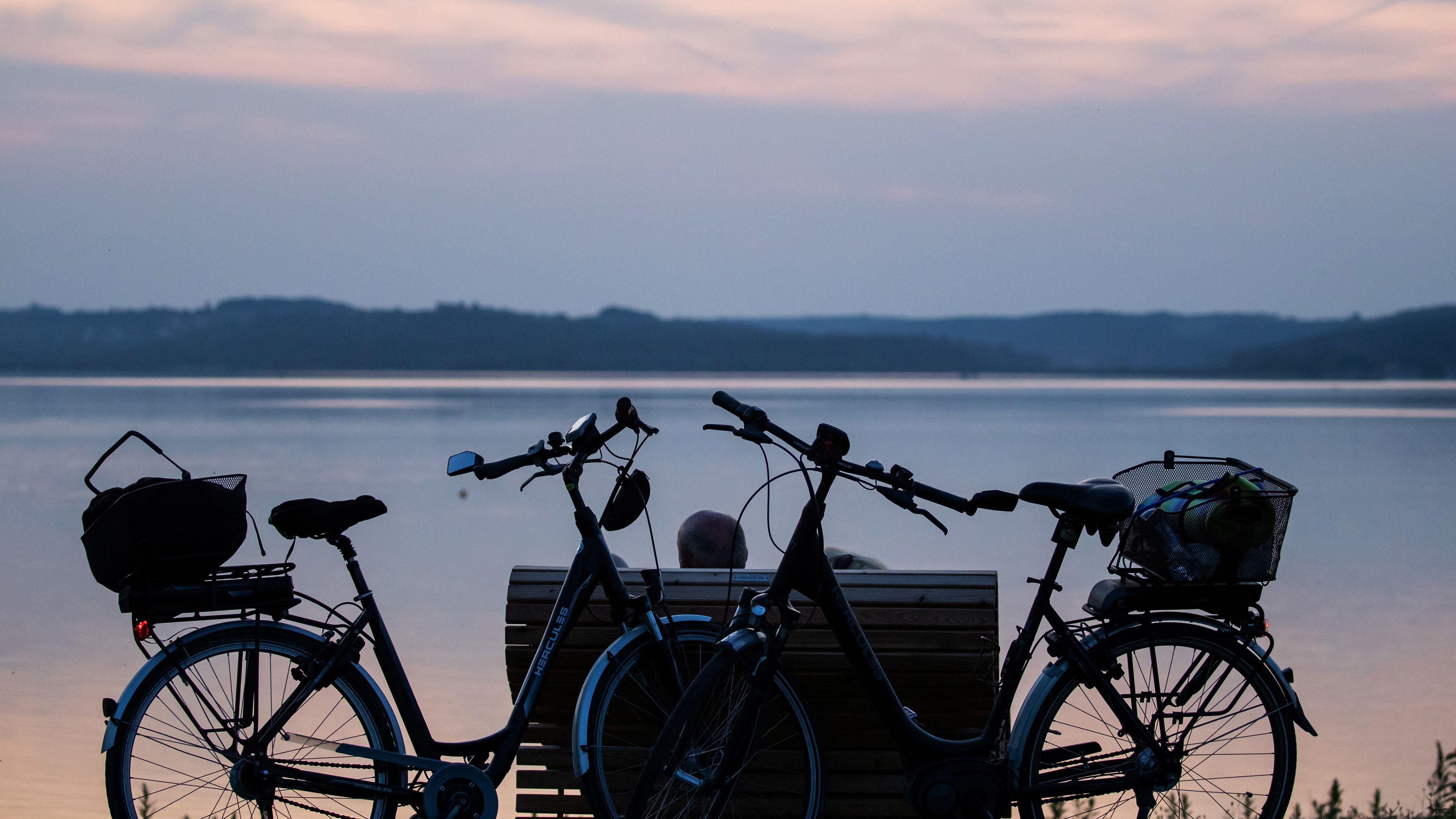 Fahrrad-Touristen im Fränkischen Seenland