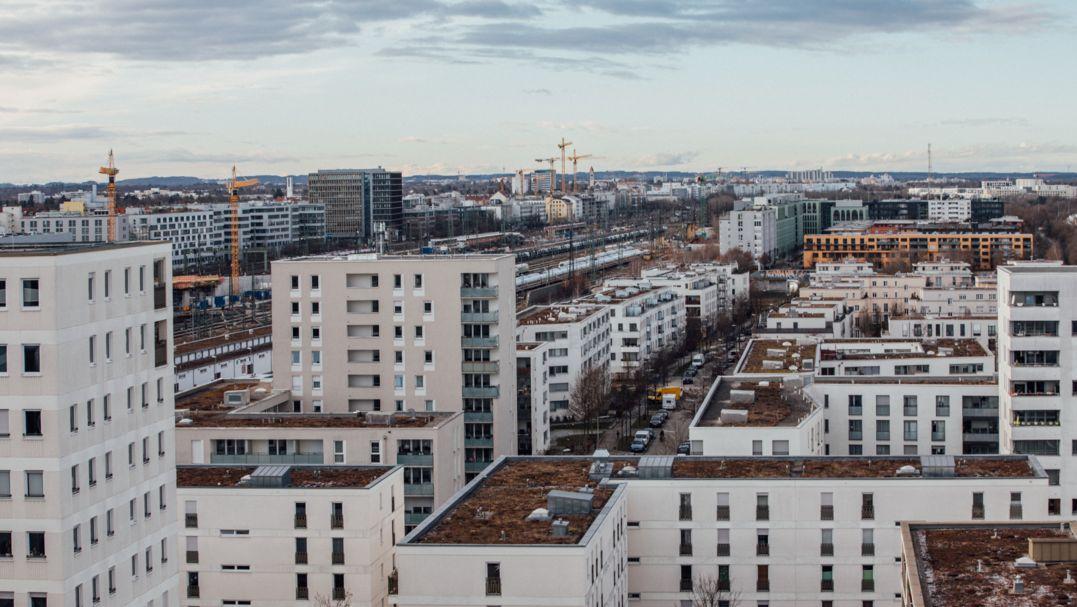 Foto einer Wohnhaussiedlung in München