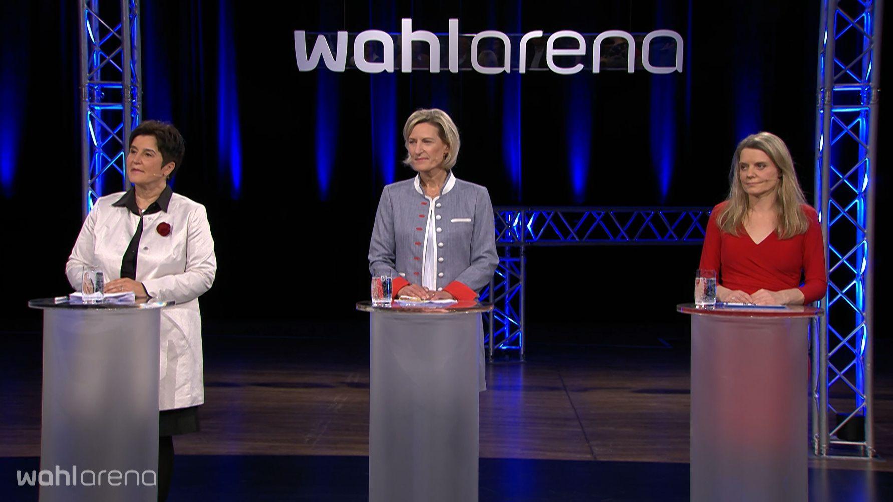 Maria Noichl (SPD), Angelika Niebler (CSU), Henrike Hahn (Grüner)
