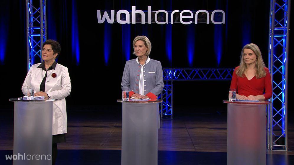 Maria Noichl (SPD), Angelika Niebler (CSU), Henrike Hahn (Grüner) | Bild:BR
