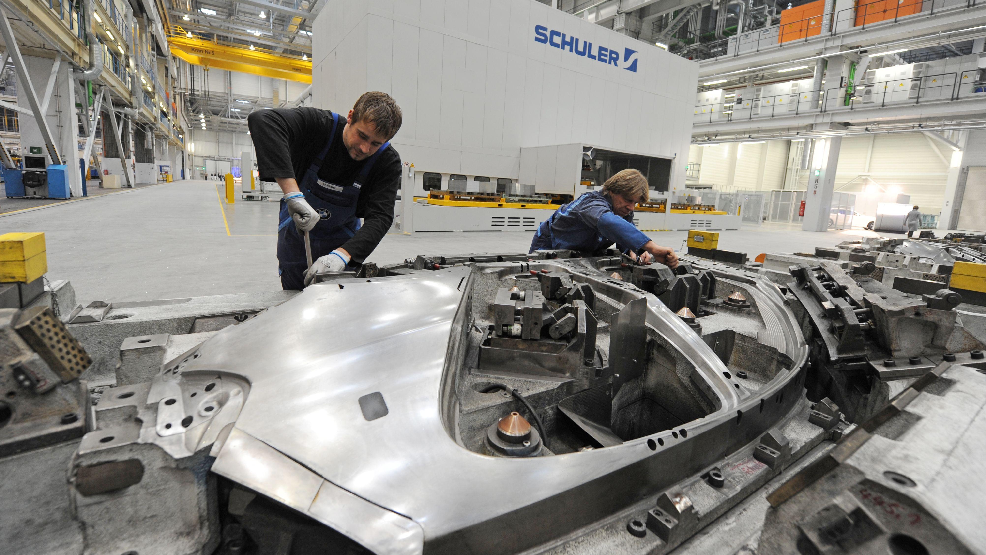 Presswerk bei BMW. Im Dingolfinger Werk stand die Anlage für über eine Stunde still