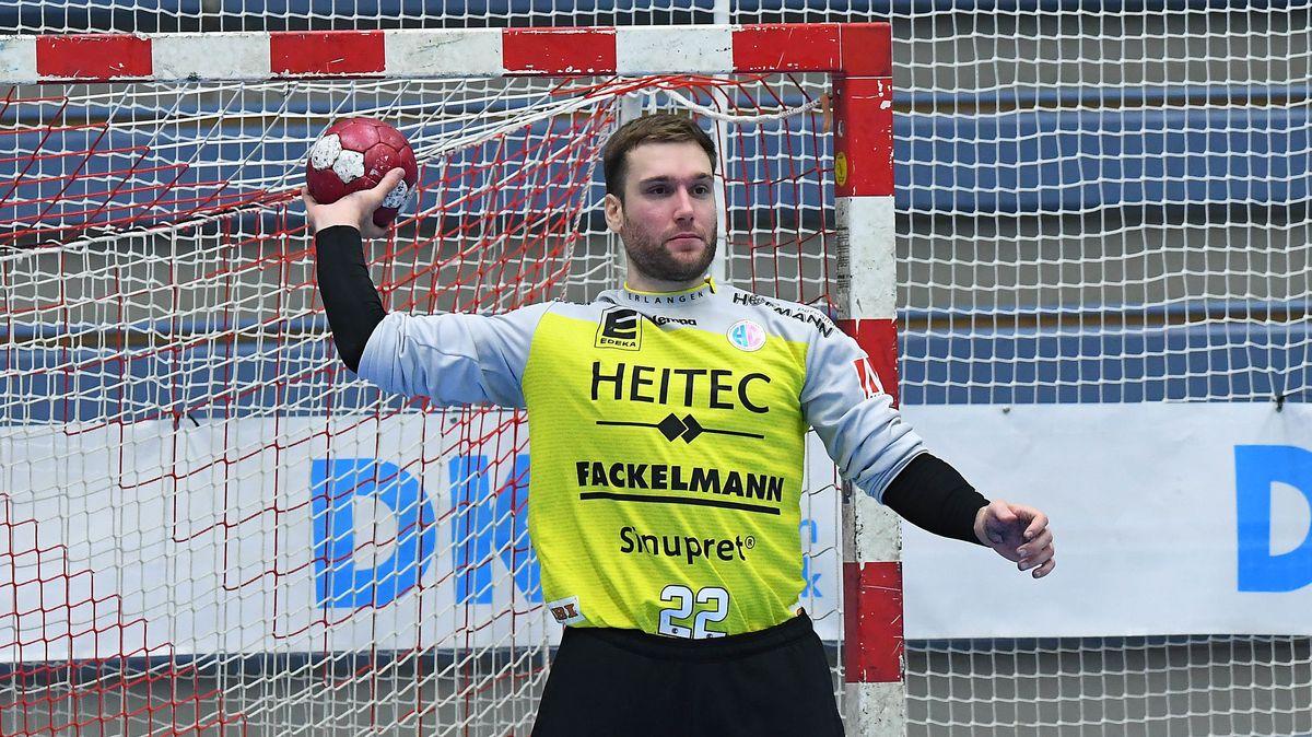 Der slowenische Nationaltorwart Klemen Ferlin (HC Erlangen)