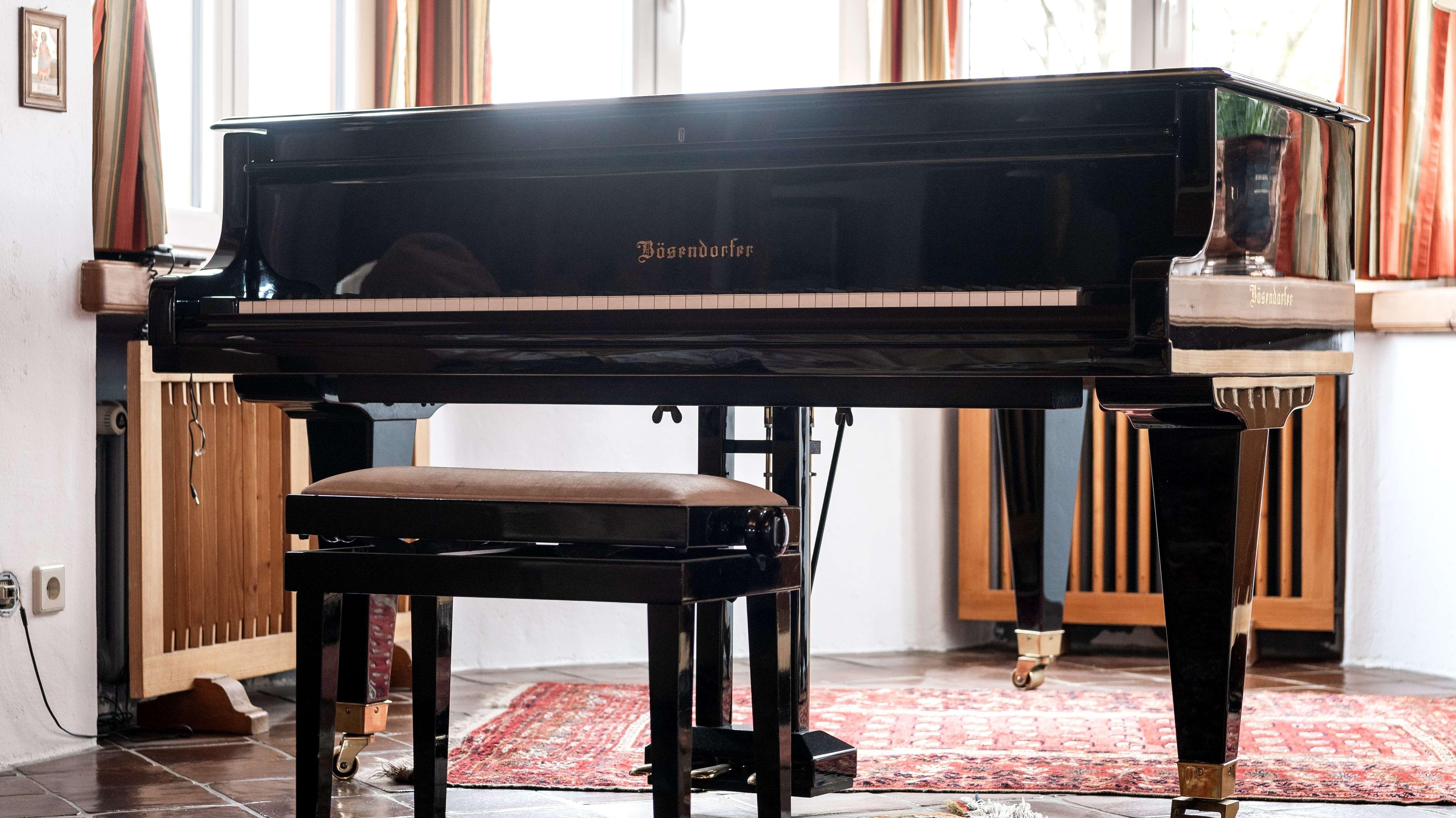 Der Teure Flügel mit Elfenbein-Tastatur