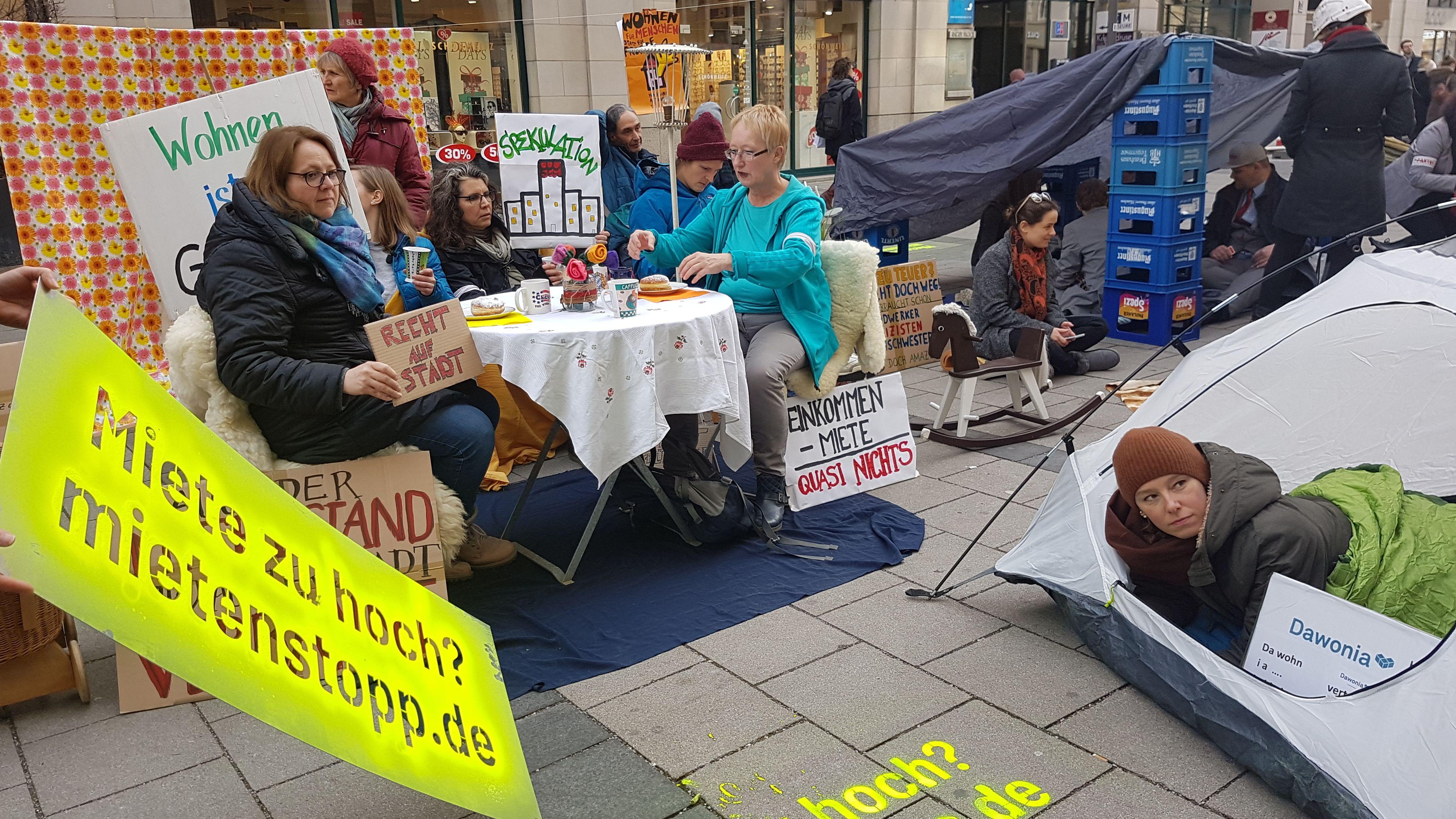 Mieterprotest auf der Sendlinger Straße in München