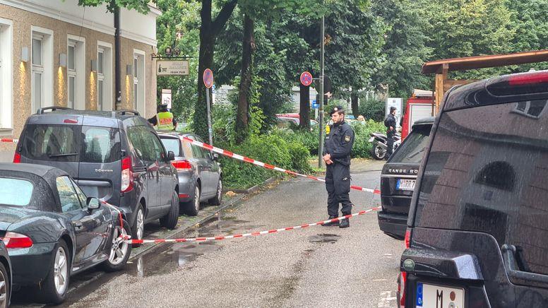 Polizeieinsatz in München-Haidhausen   Bild:BR/Tobias Bönte
