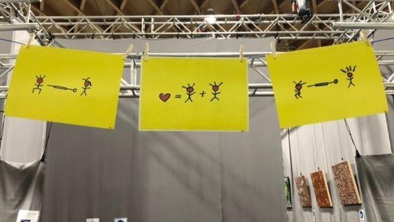 Kunst im Impfzentrum Straubing