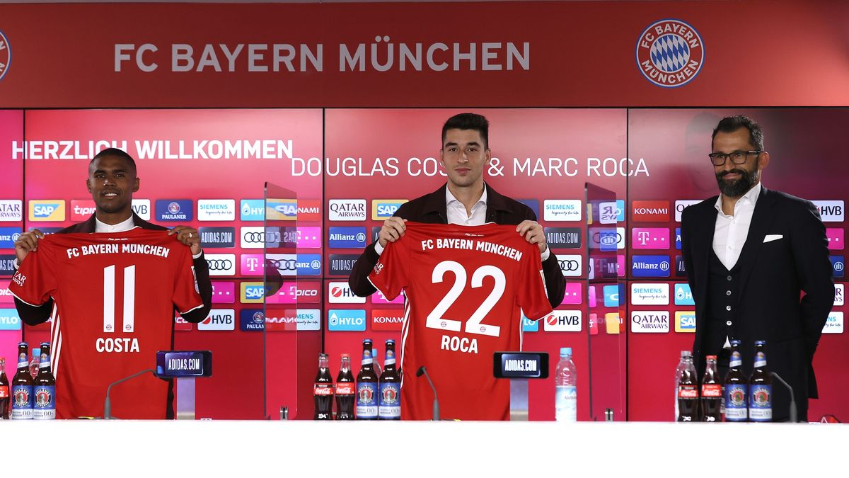 Vorstellung Marc Roca und Douglas Costa beim FC Bayern München