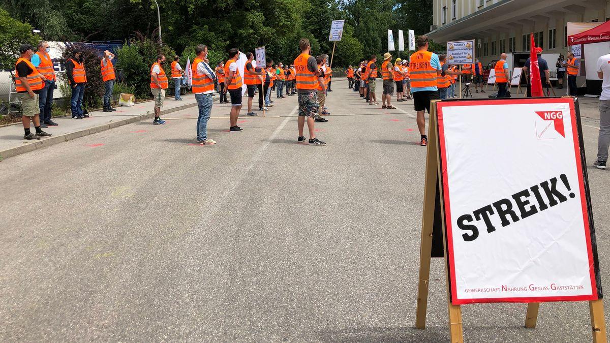 Streik bei Danone in Rosenheim