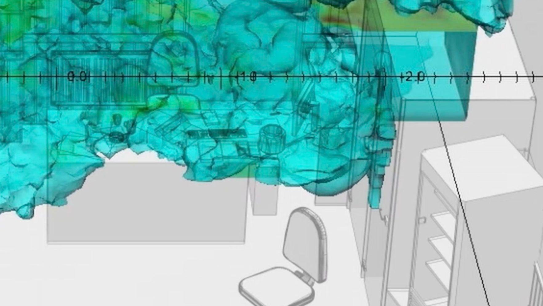 Detailansicht aus dem Video von Forensic Architecture und Dr. Salvador Navarro-Martinez