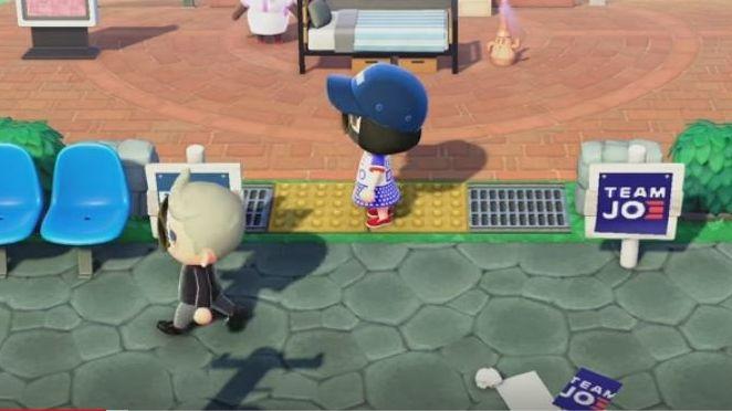 Joe Biden Wahlkampf in Animal Crossing