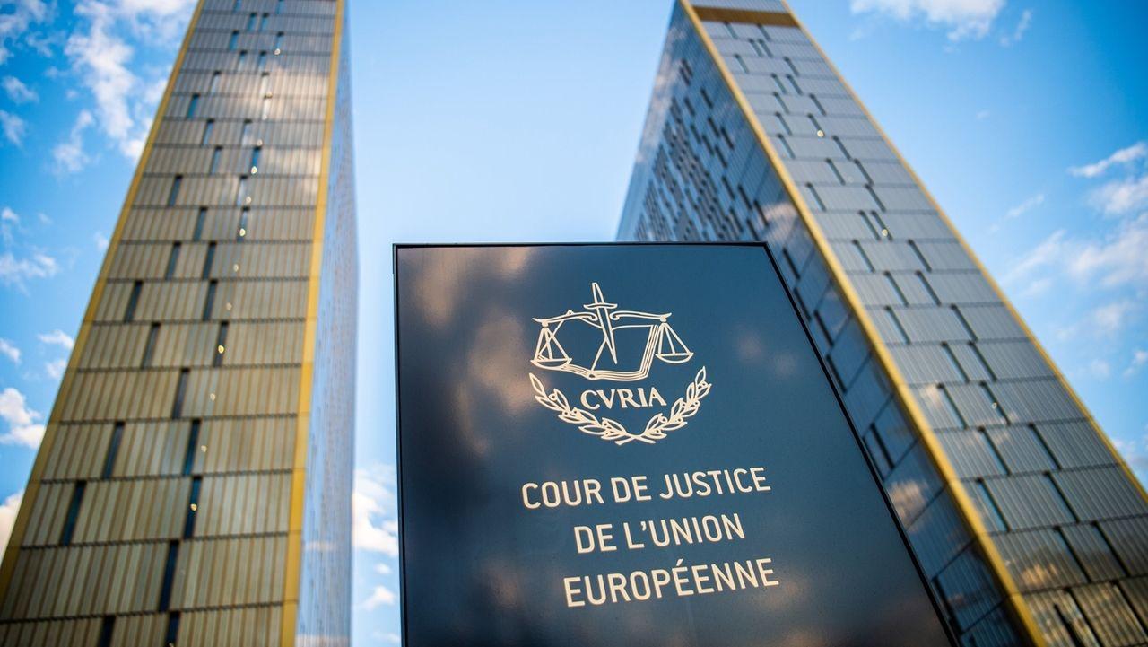 Hausschild vor dem Europäischen Gerichtshof in Luxemburg