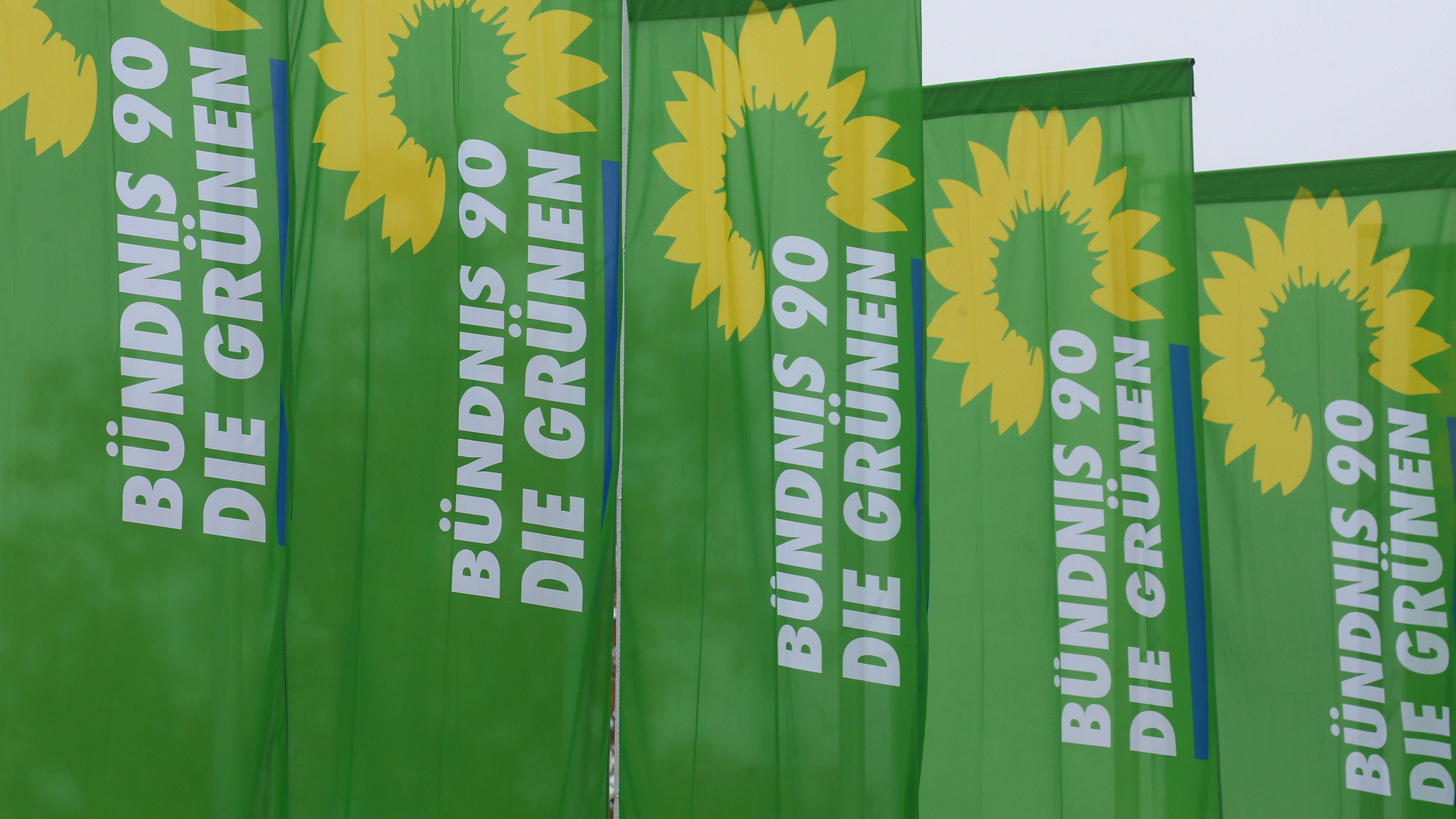 Fahnen der Grünen