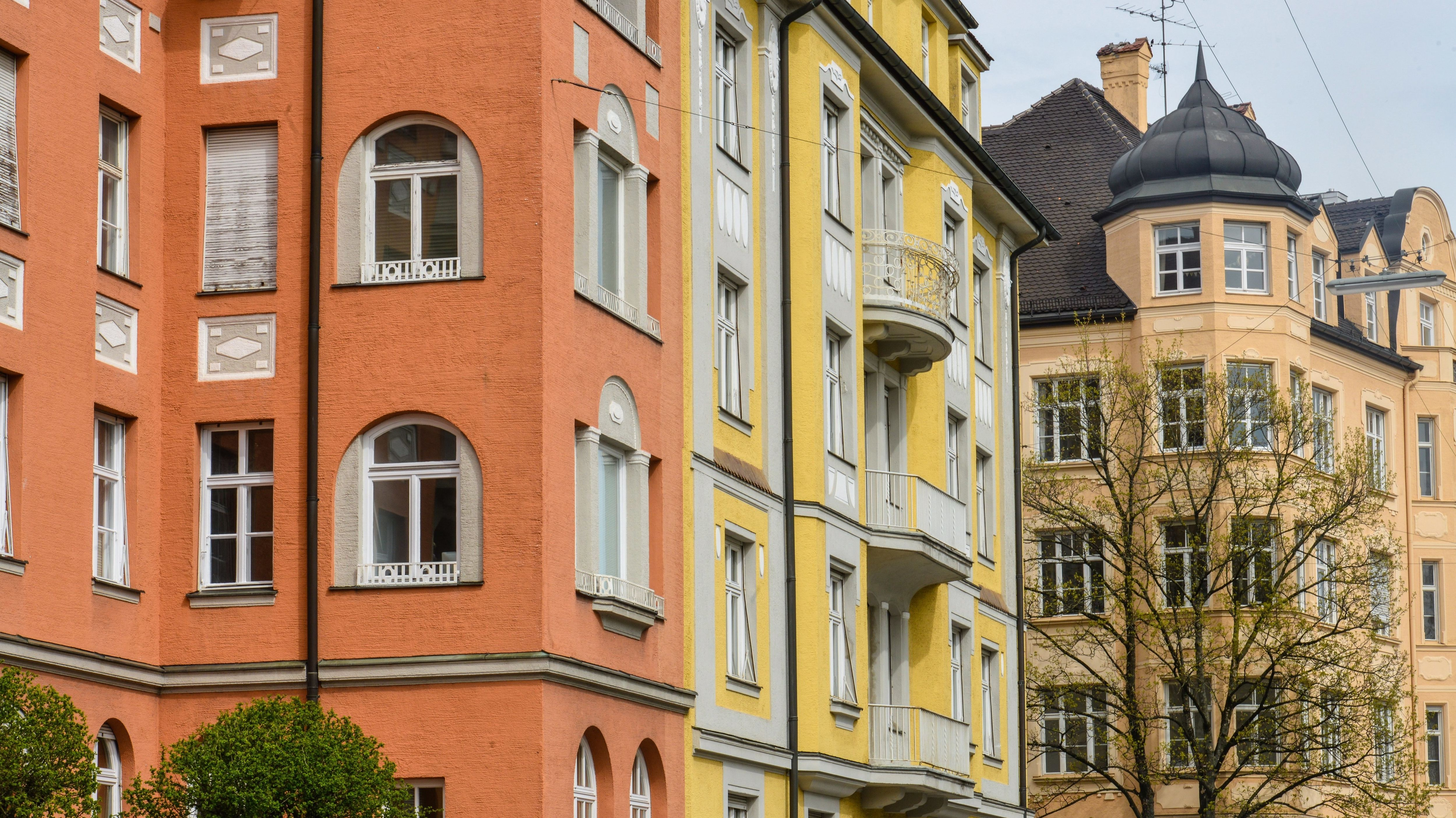 Altbau-Wohnungen an der Clemensstraße in München-Schwabing