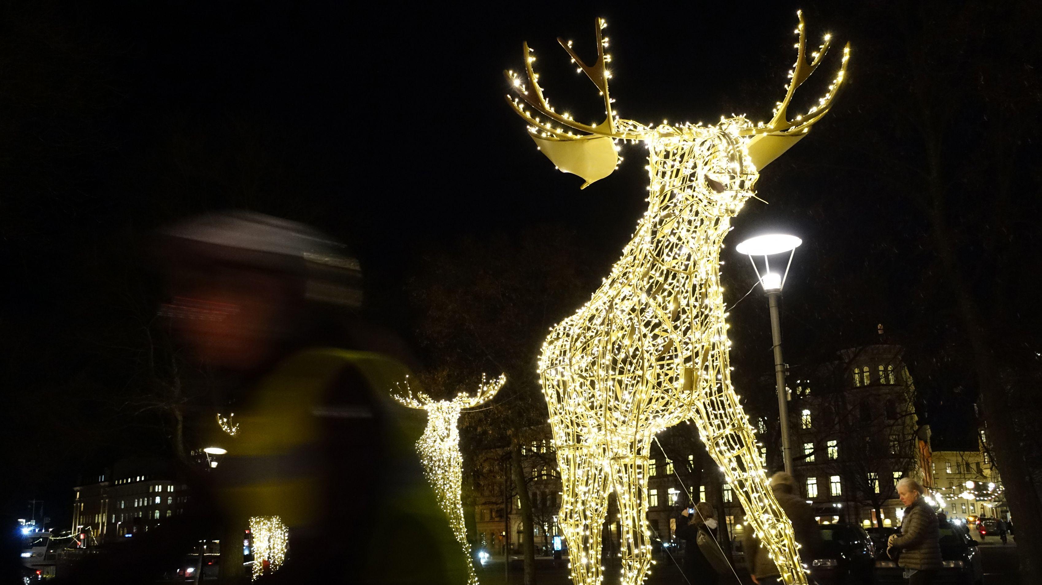 Elch-Leucht-Deko in Stockholm
