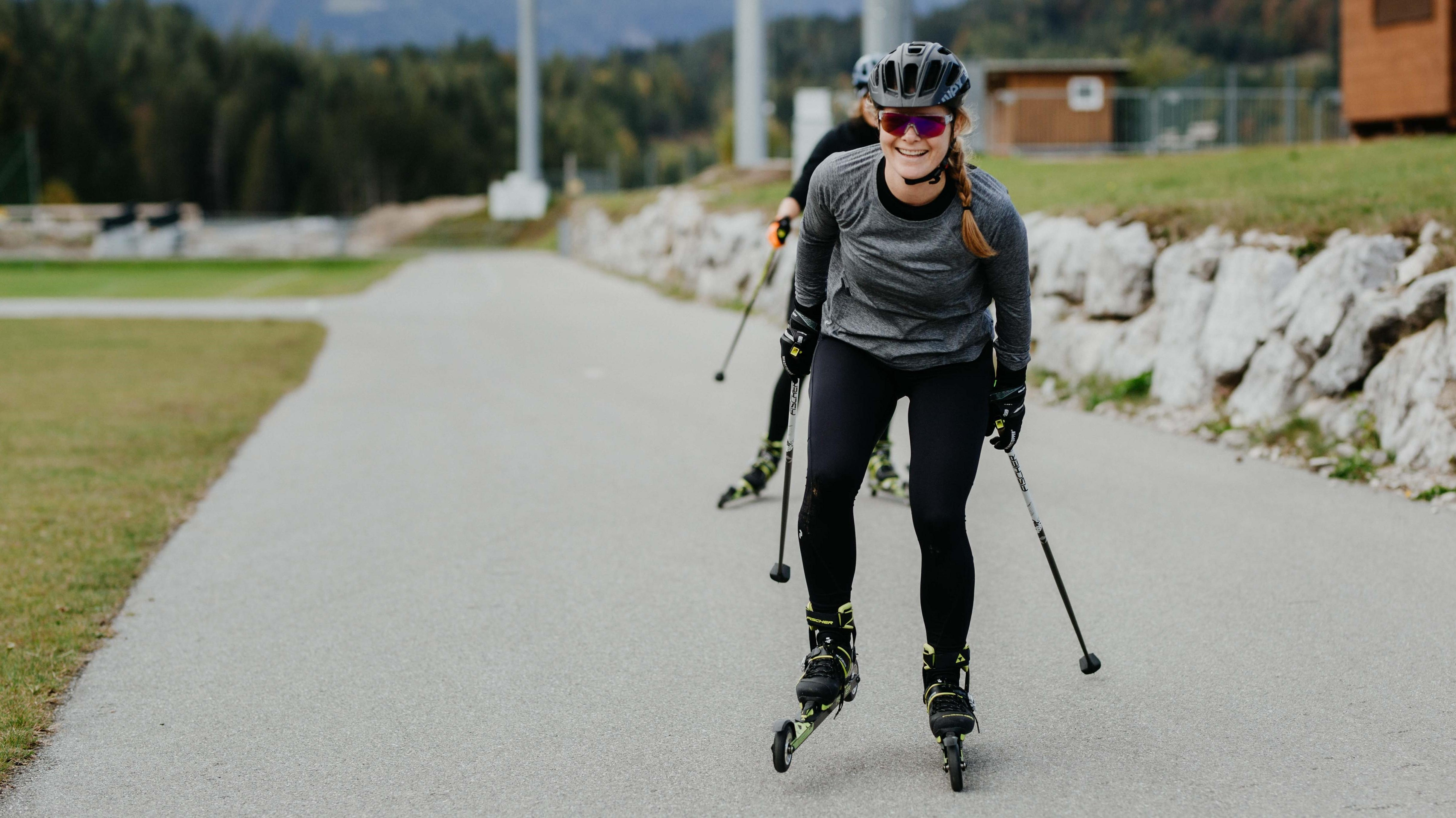 Katharina Kestler beim Langlauftraining