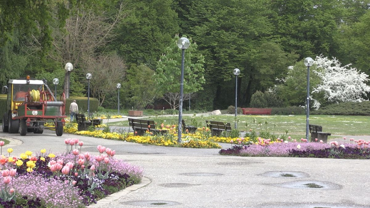Verlassener Kurpark in Bad Füssing