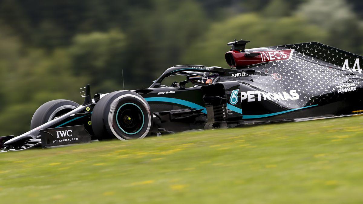 Mercedes-Rennfahrer-Lewis Hamilton beim Training in Spielberg/Österreich