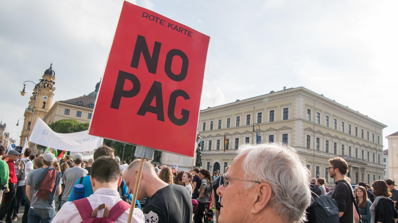 Demonstration gegen das Polizeiaufgabengesetz in München